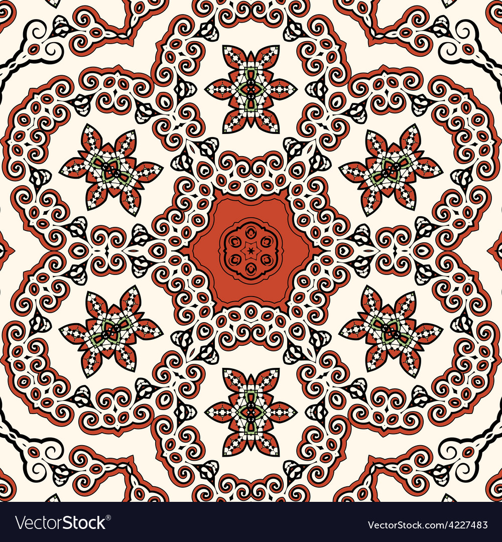 Seamless oriental liginoru motif mandala vector | Price: 1 Credit (USD $1)