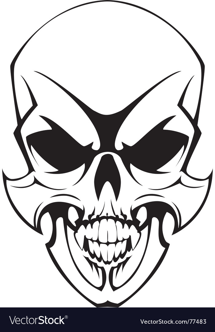 Tatto skulll vector | Price: 1 Credit (USD $1)