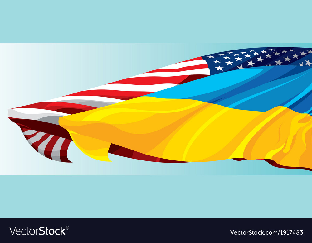 Usa ukraine flag vector | Price: 1 Credit (USD $1)