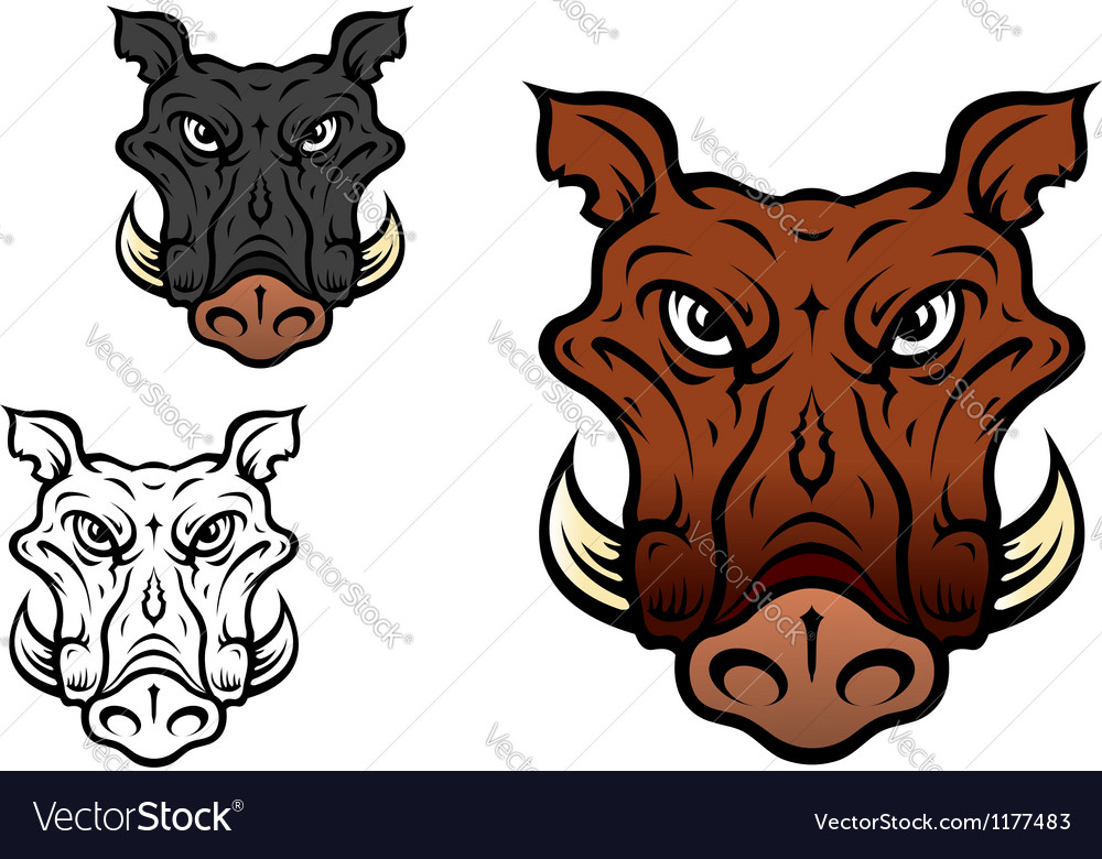 Wild boar or hog vector | Price: 3 Credit (USD $3)