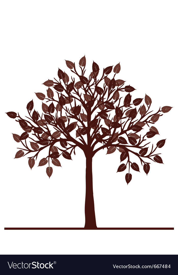 Abstract brown tree vector | Price: 1 Credit (USD $1)