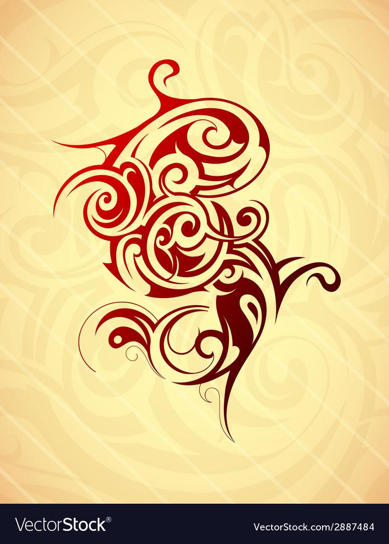 Artistic tattoo shape vector | Price: 1 Credit (USD $1)