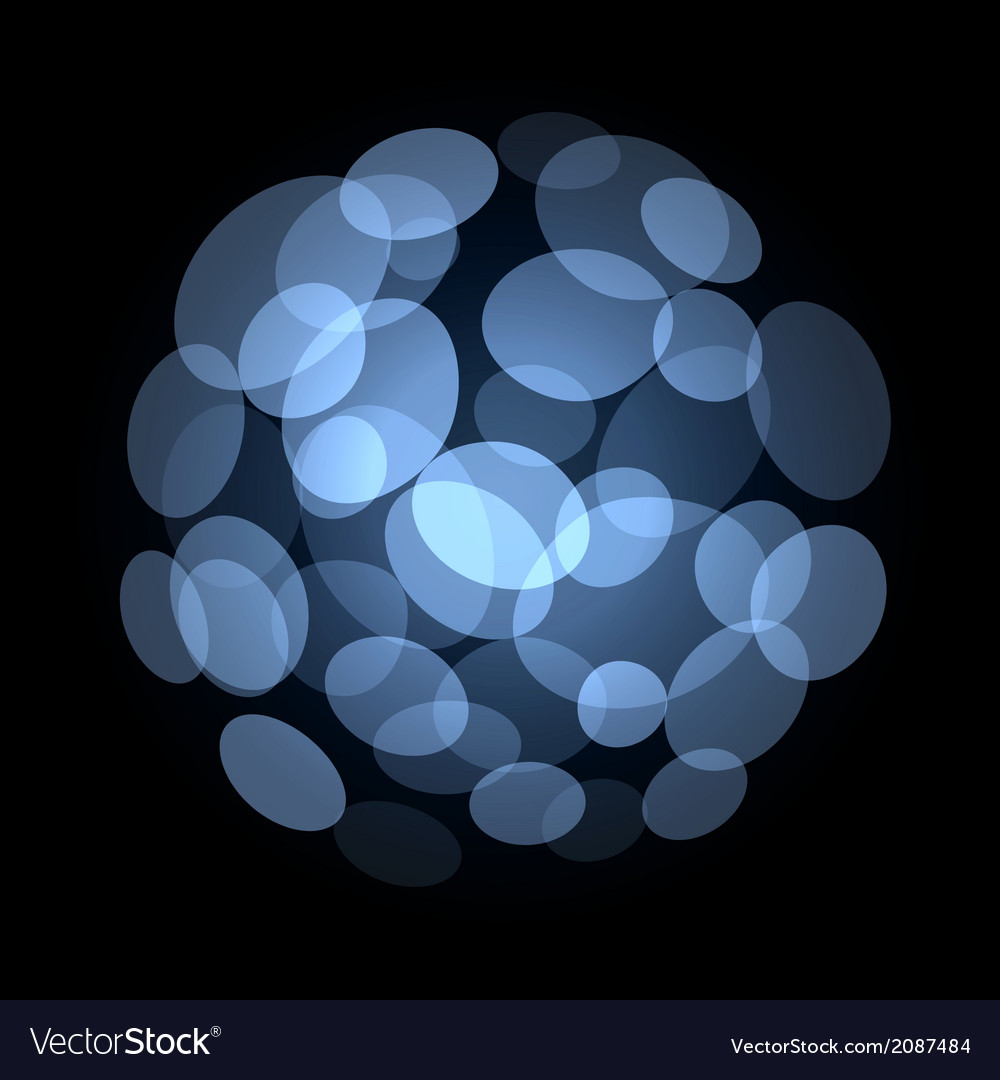 Blue abstract light spot background vector | Price: 1 Credit (USD $1)