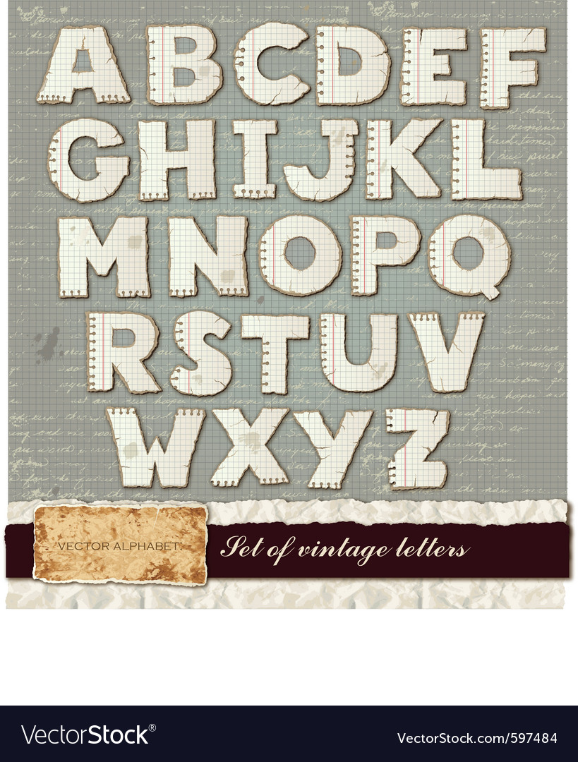 Detailed alphabet vector | Price: 3 Credit (USD $3)