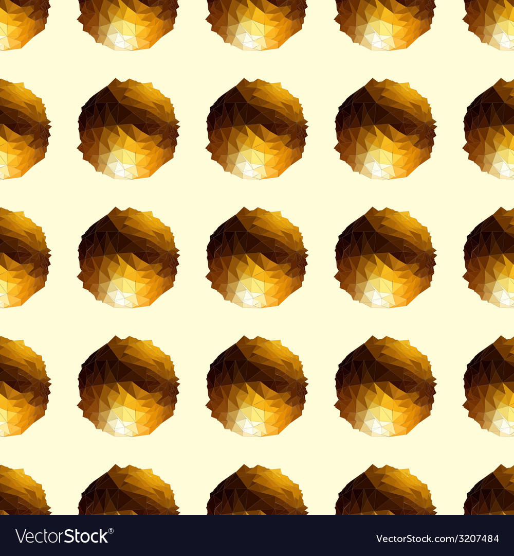 Disco ball gold seamless background vector | Price: 1 Credit (USD $1)