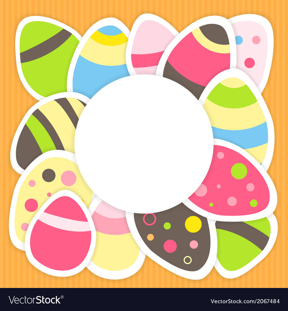 Easter eggs pattern on a orange vector | Price: 1 Credit (USD $1)