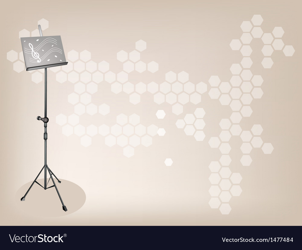 Music stand brown background vector | Price: 1 Credit (USD $1)