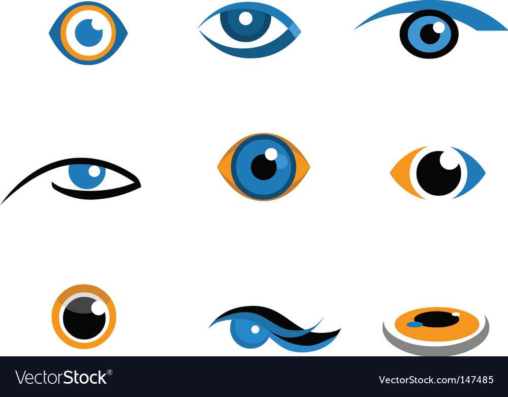 Eye icons and logos vector | Price: 1 Credit (USD $1)