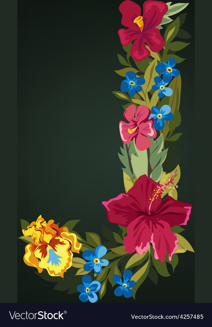 J letter flower capital alphabet colorful font vector | Price: 1 Credit (USD $1)