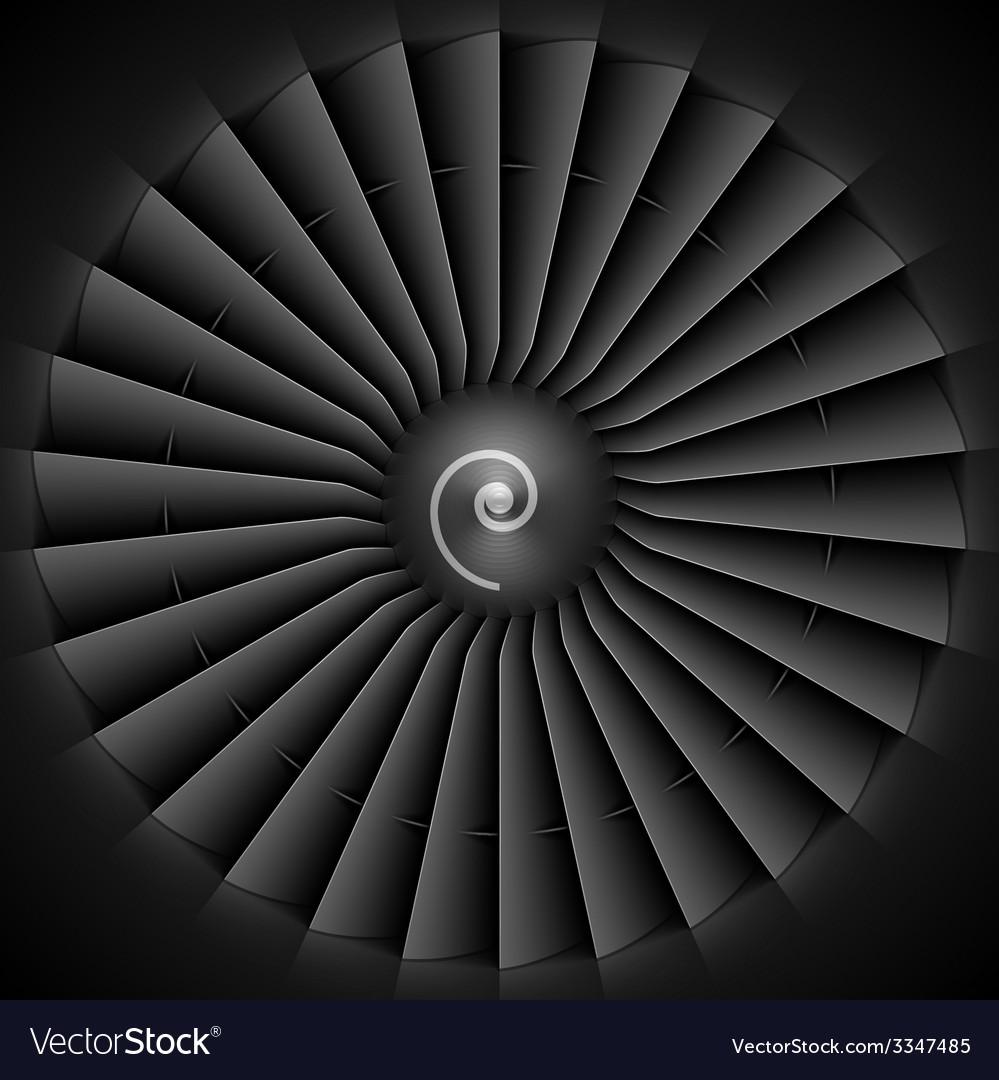 Jet engine turbine blades vector | Price: 1 Credit (USD $1)