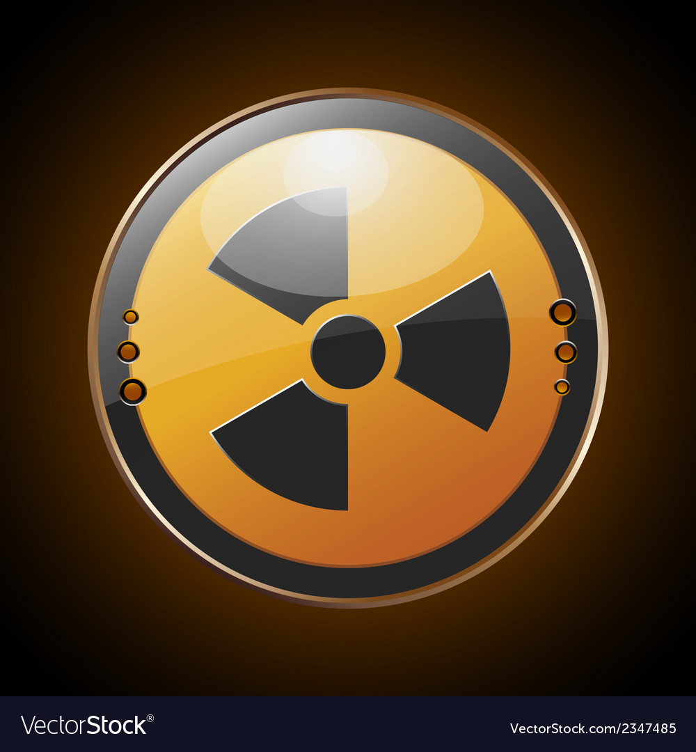 Nuclear radioactive symbol vector | Price: 1 Credit (USD $1)