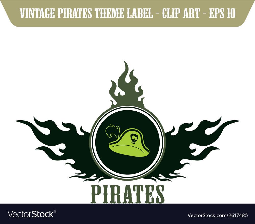 Pirate design elements vector | Price: 1 Credit (USD $1)