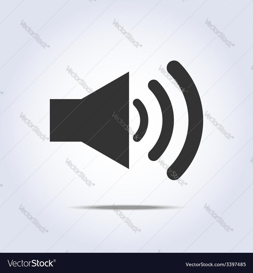 Speaker volume icon gray colors vector | Price: 1 Credit (USD $1)