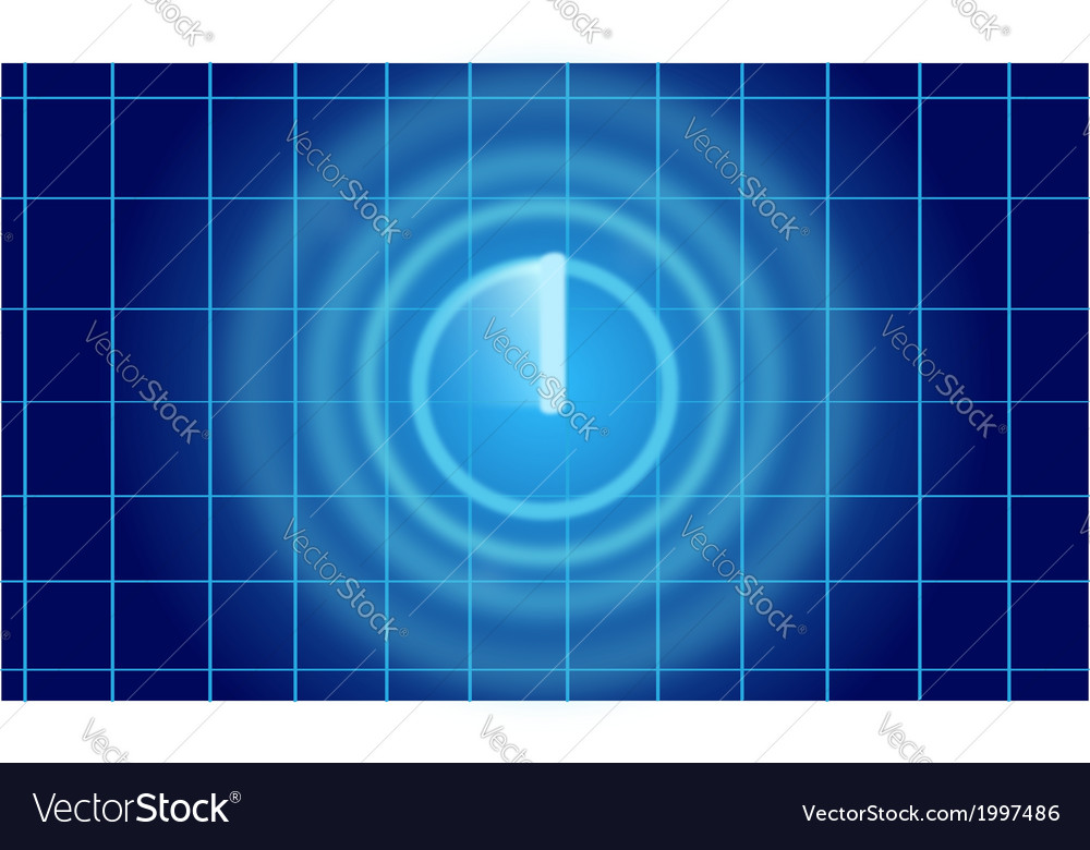 Blue radar screen vector | Price: 1 Credit (USD $1)