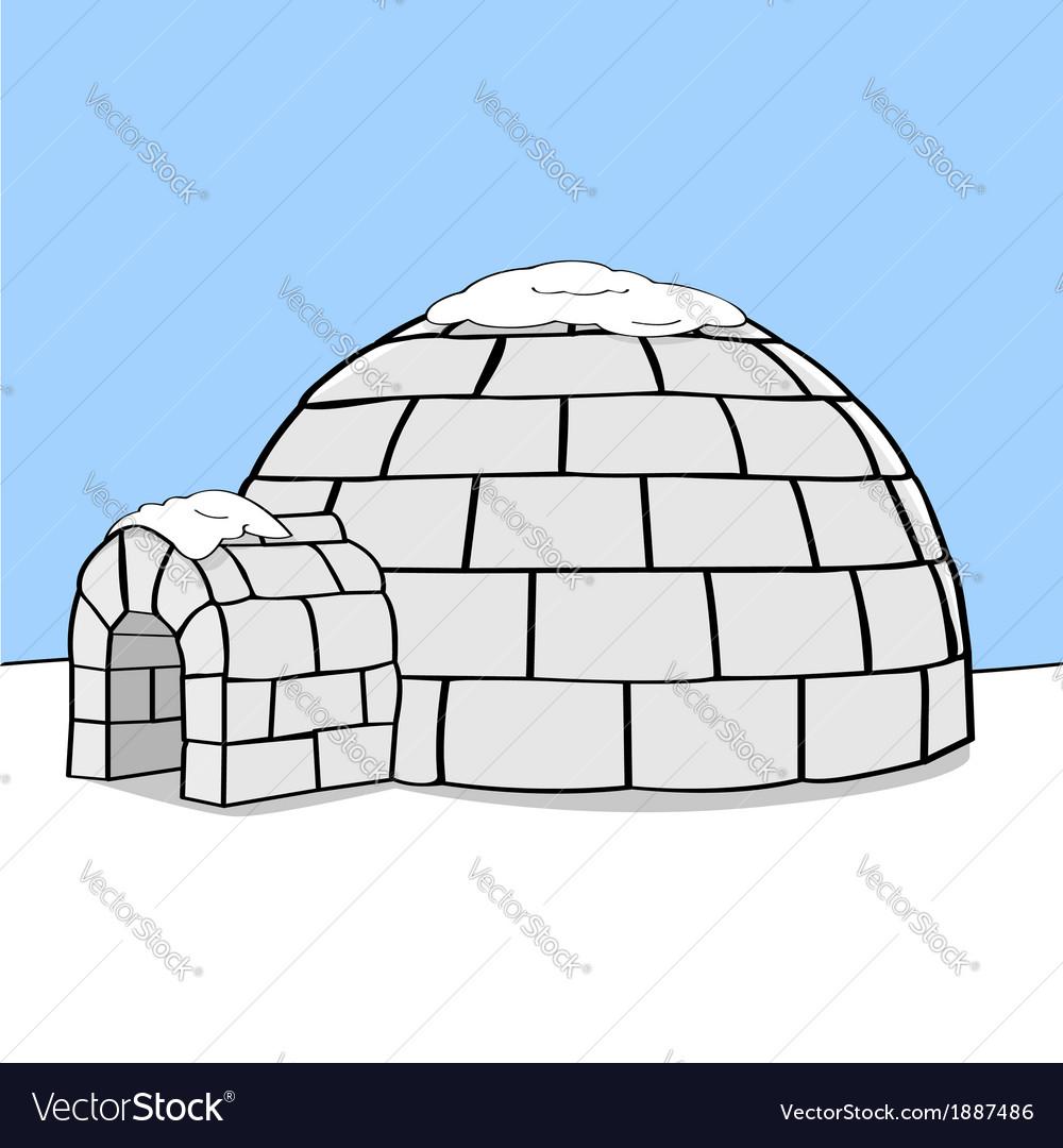 Cartoon igloo vector | Price: 1 Credit (USD $1)