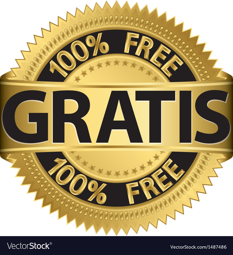 Gratis gold label vector | Price: 1 Credit (USD $1)