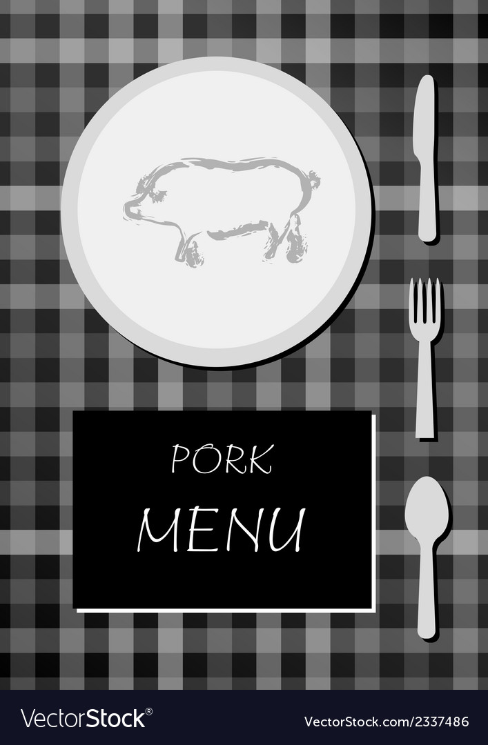 Pork menu vector | Price: 1 Credit (USD $1)