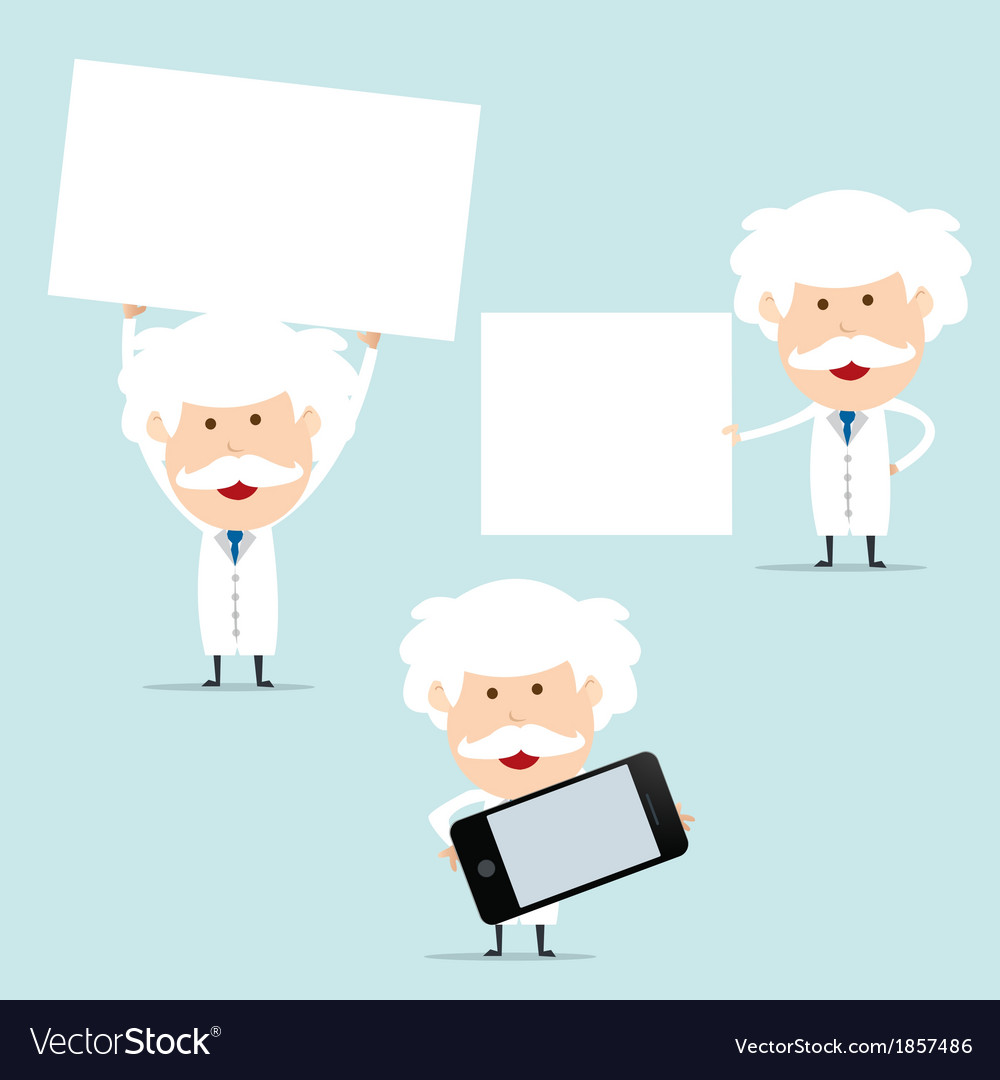 Professor show blank board for use in advertising vector | Price: 1 Credit (USD $1)