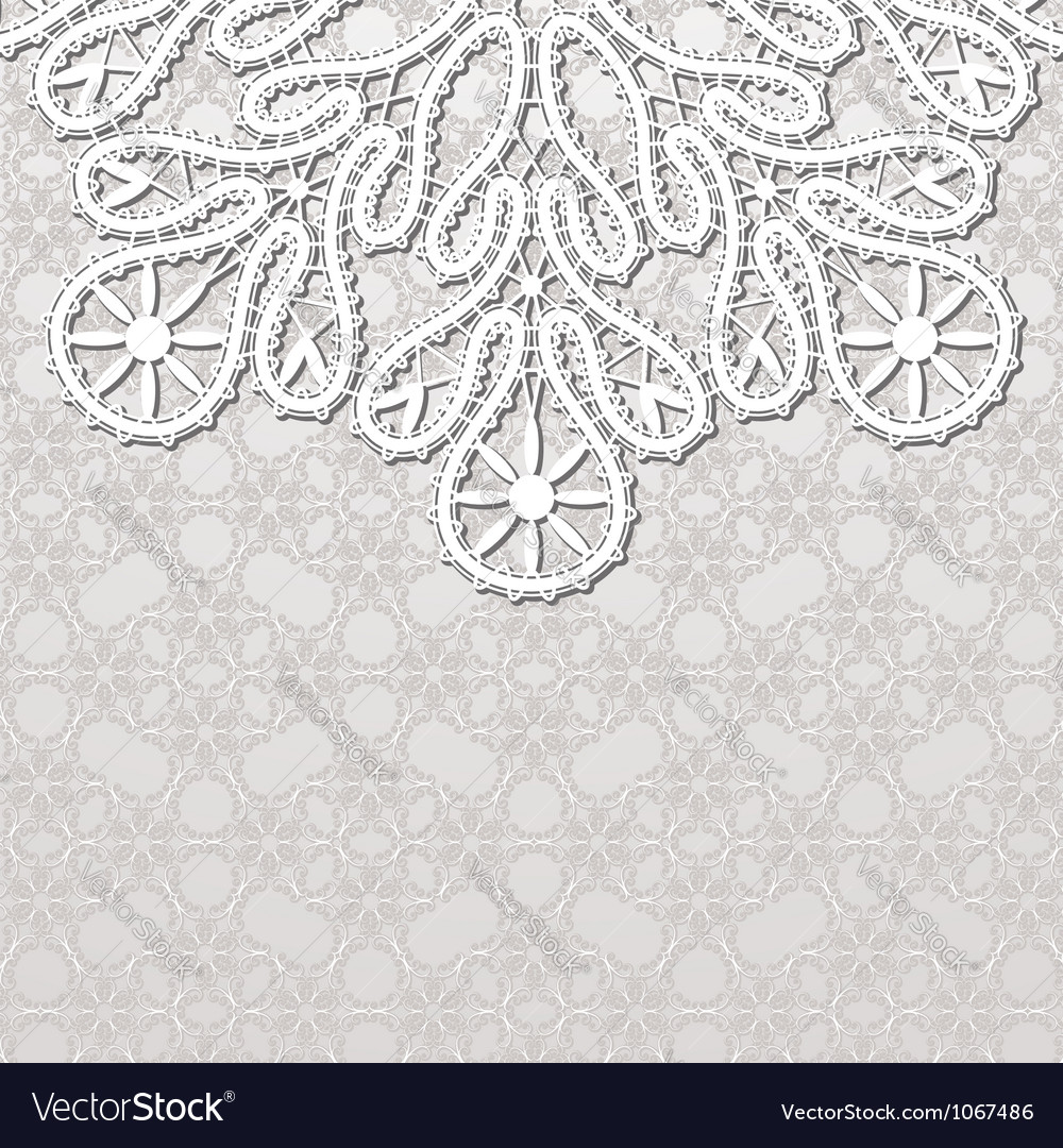 Realistic lace background vector | Price: 1 Credit (USD $1)
