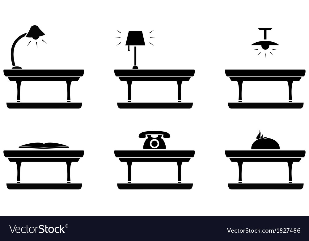 Table icon for living room food and office vector | Price: 1 Credit (USD $1)