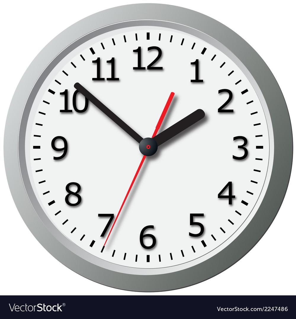 Wall mounted digital clock vector   Price: 1 Credit (USD $1)