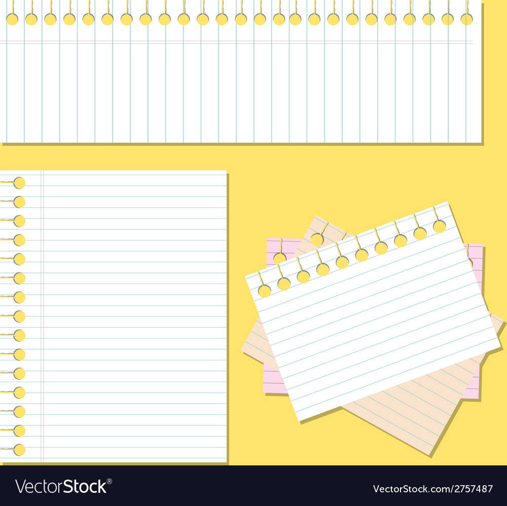 Back to school paper with lines vector | Price: 1 Credit (USD $1)