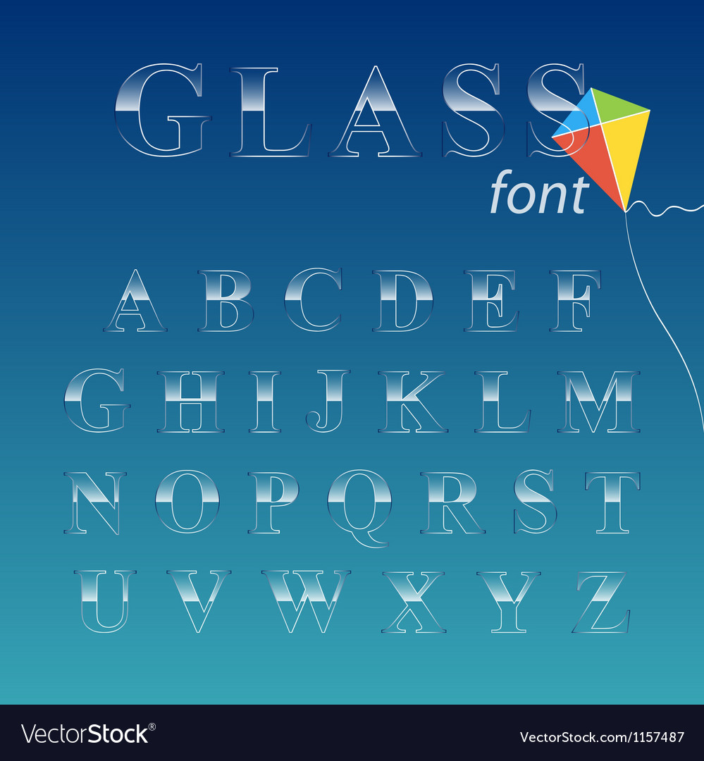 Glass font vector | Price: 1 Credit (USD $1)