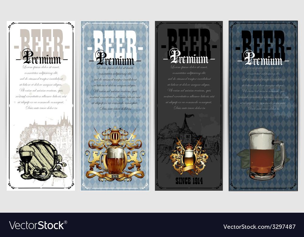 Set of beer labels vector | Price: 1 Credit (USD $1)