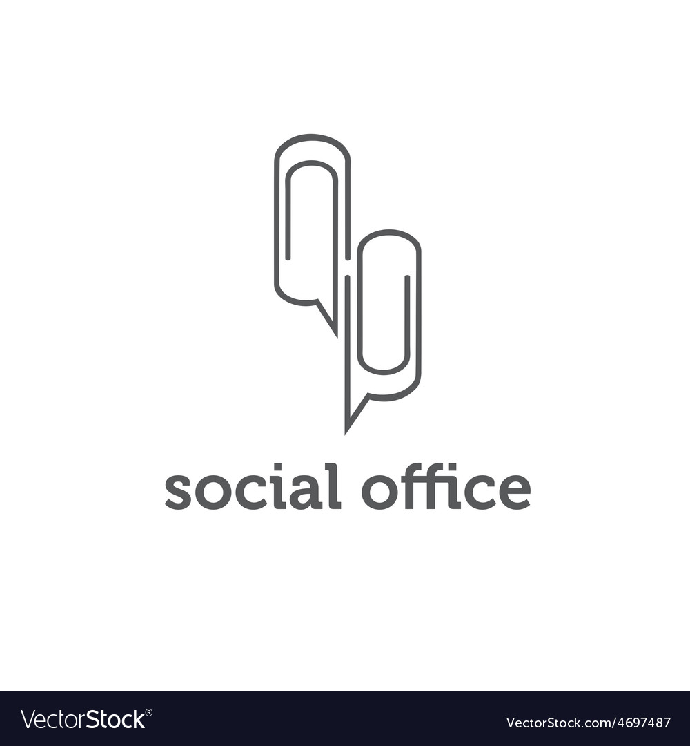 Social office concept design template vector | Price: 1 Credit (USD $1)