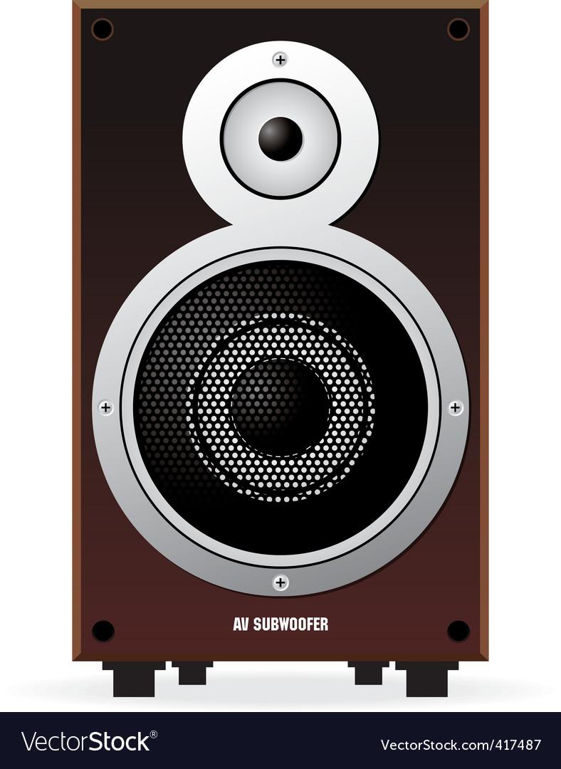 Sub woofer speaker vector | Price: 1 Credit (USD $1)