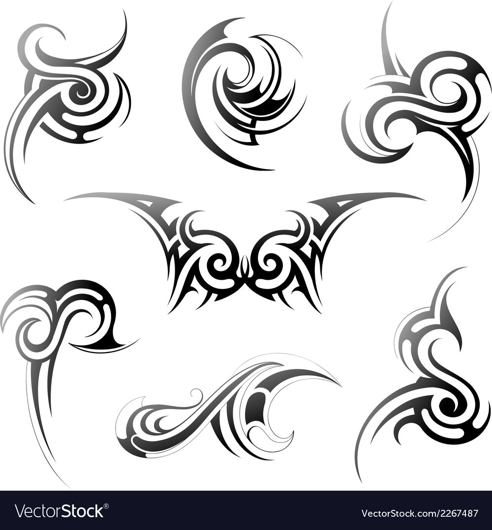 Tribal art set vector | Price: 1 Credit (USD $1)