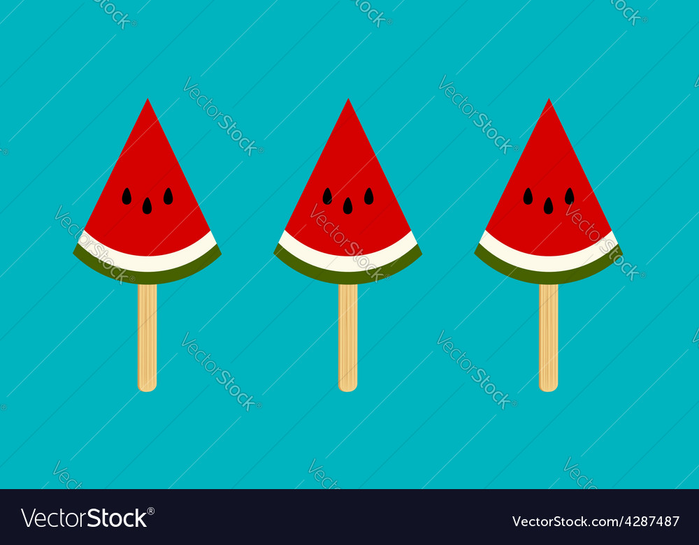 Watermelon ice cream vector