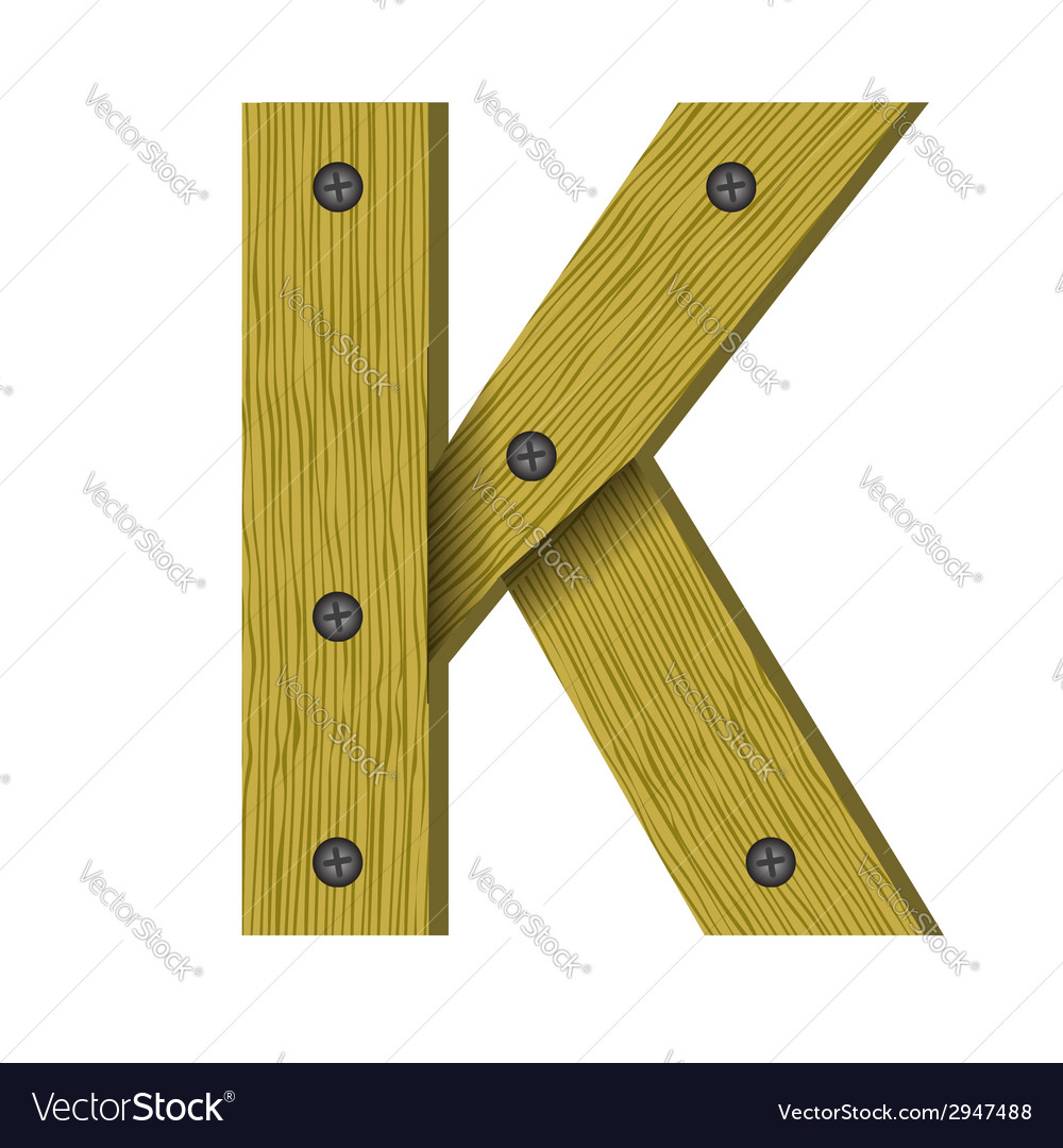 1633wood letter k vector | Price: 1 Credit (USD $1)