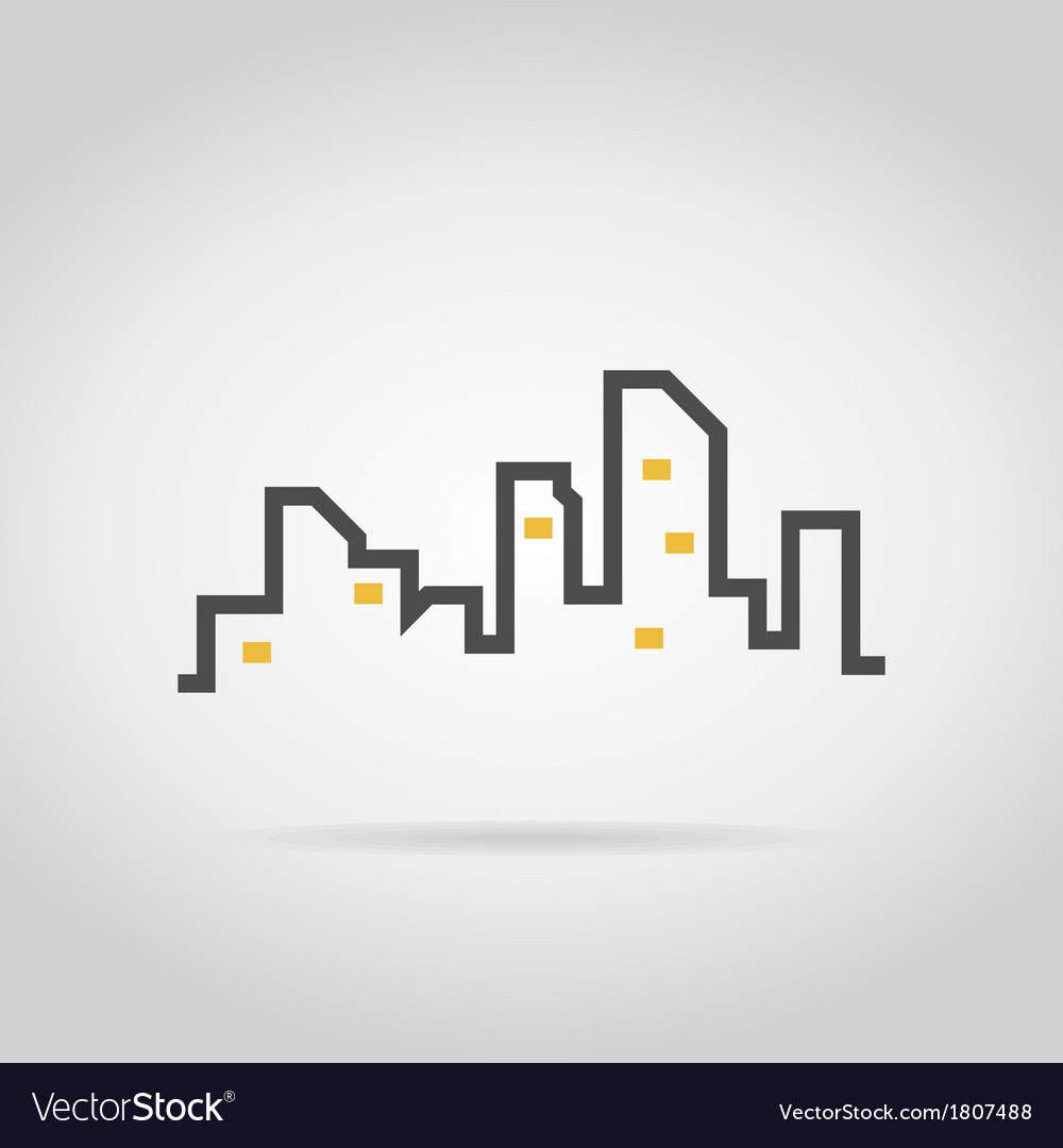 Abstract city2 vector | Price: 1 Credit (USD $1)