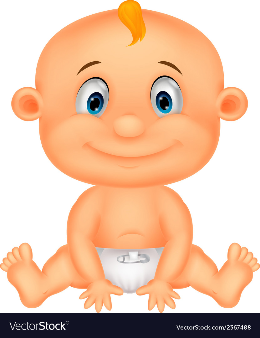 Baby boy cartoon vector | Price: 1 Credit (USD $1)