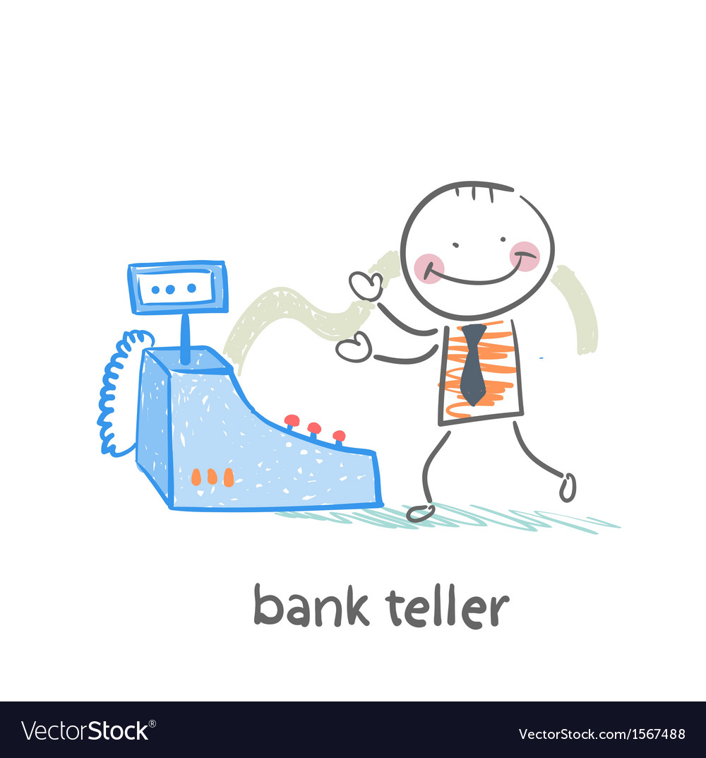 Bank teller with the apparatus vector | Price: 1 Credit (USD $1)
