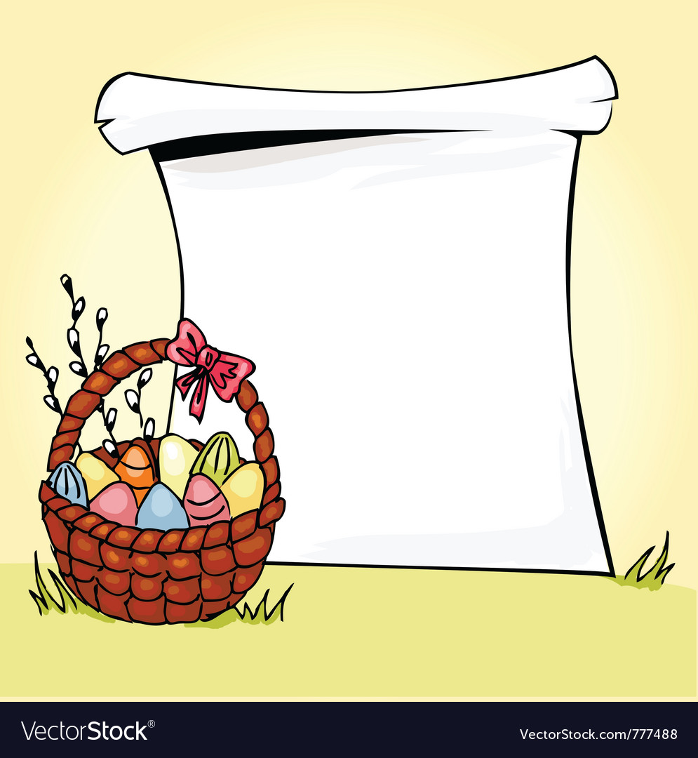 Easter basket vector   Price: 1 Credit (USD $1)