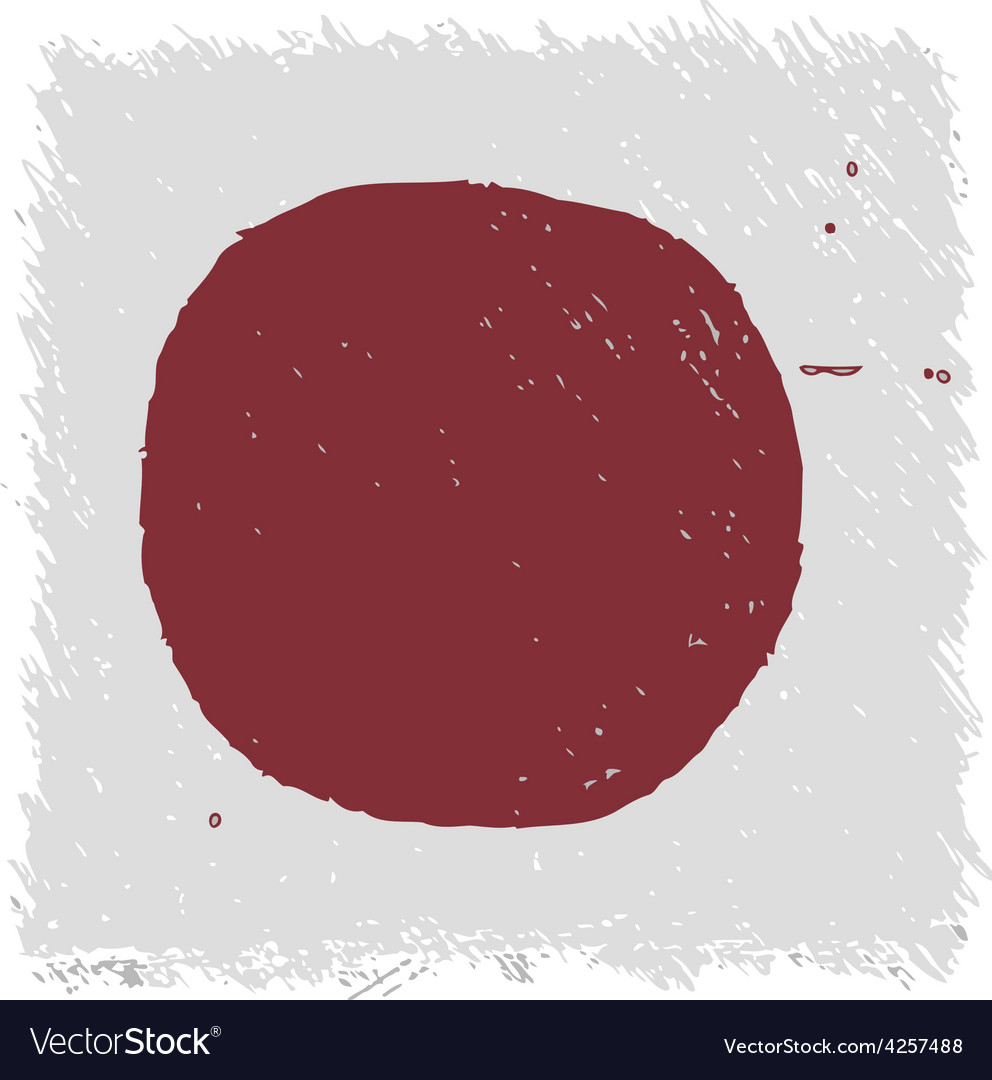 Flag of japan handmade square shape vector | Price: 1 Credit (USD $1)