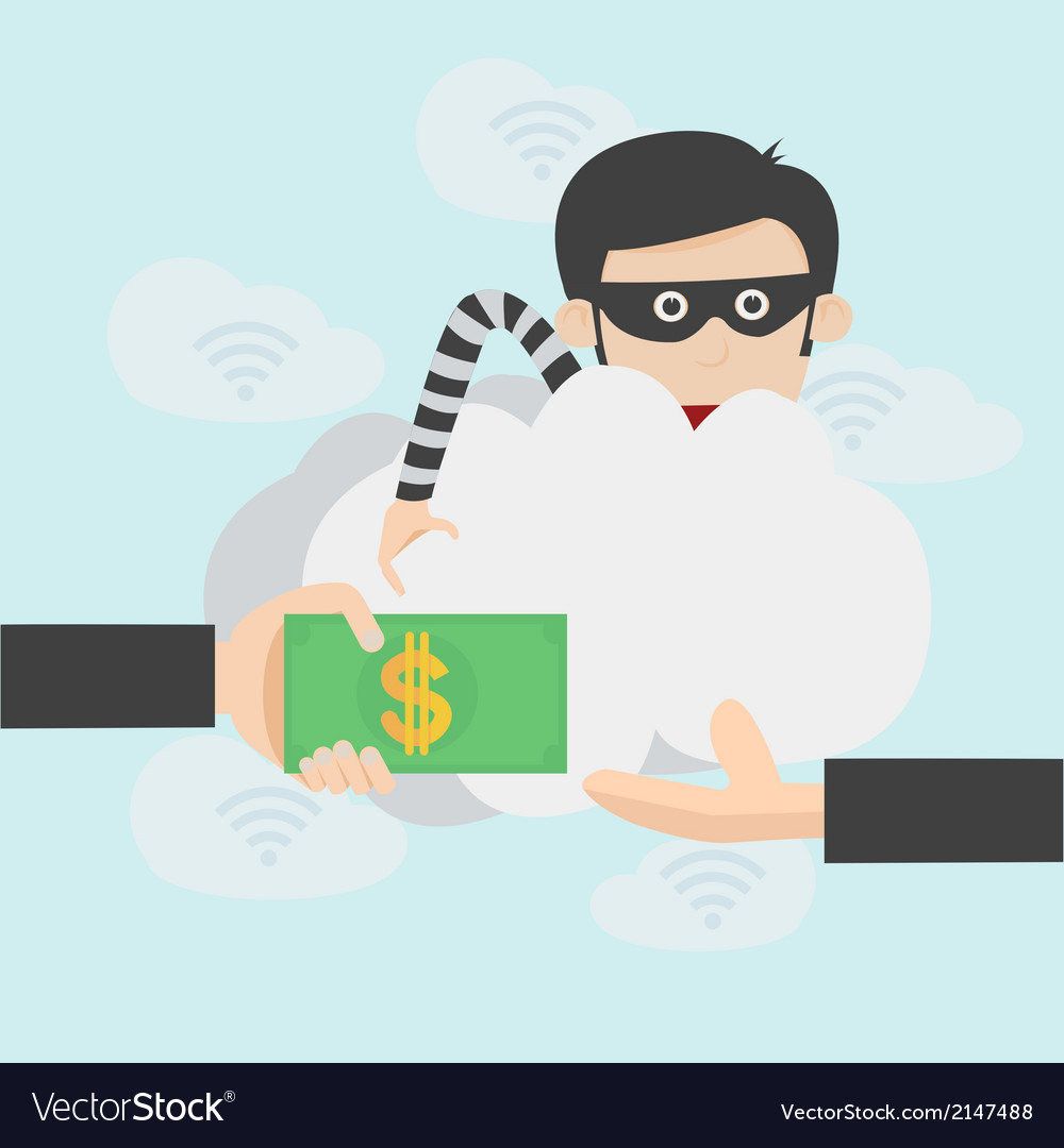 Hacker steal money over the online internet vector | Price: 1 Credit (USD $1)