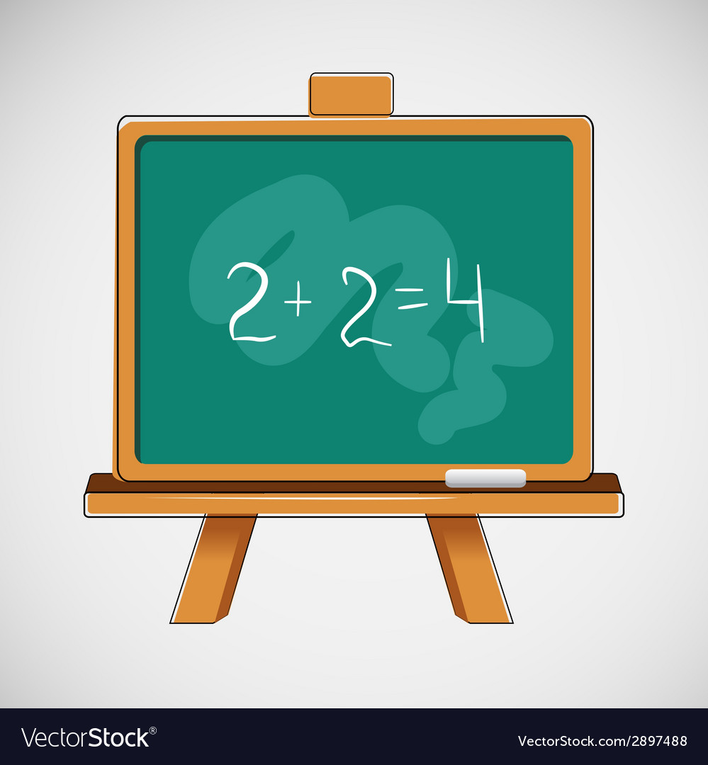 Simple black board with written numbers vector | Price: 1 Credit (USD $1)