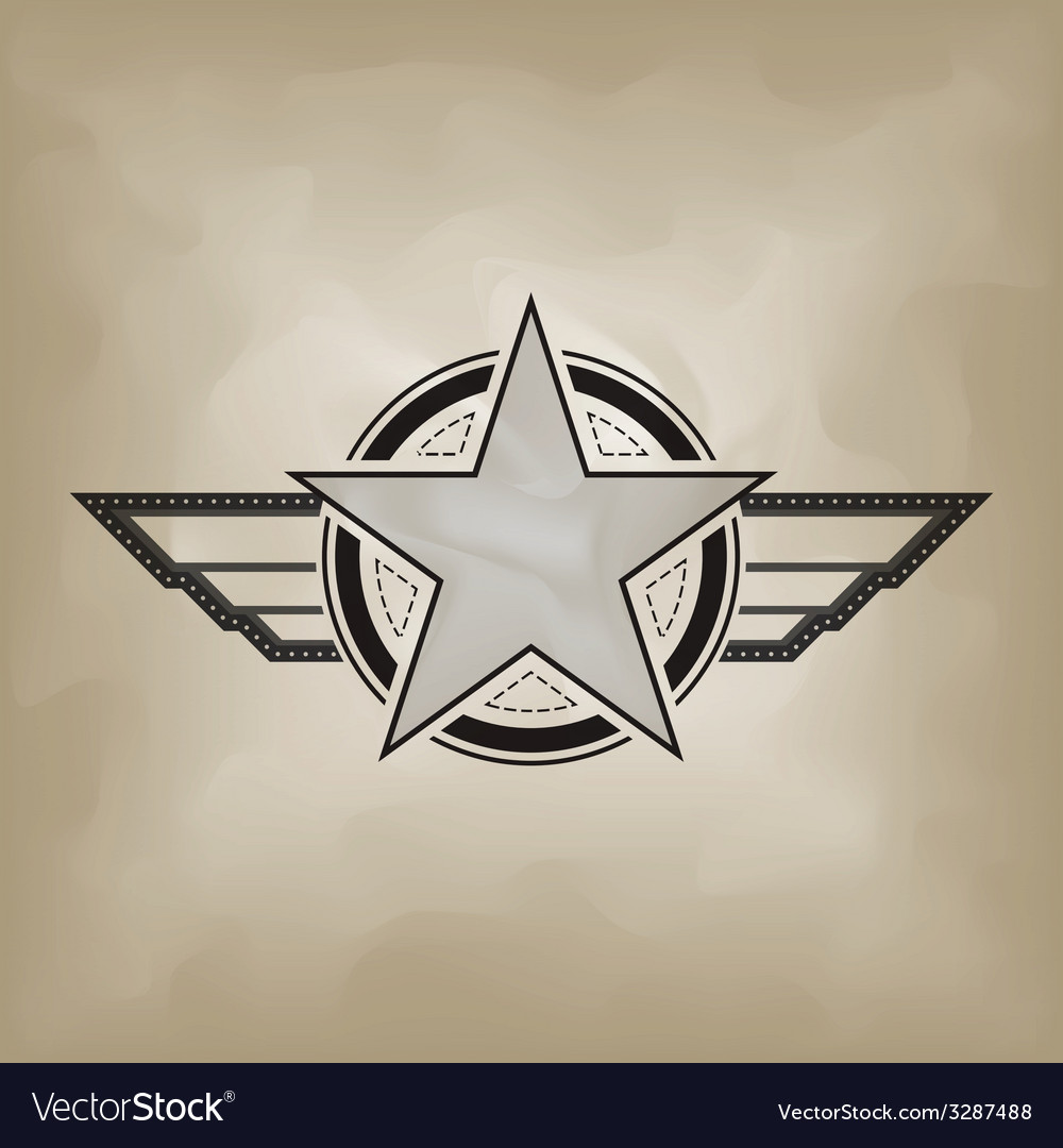Star symbol airforce military concept vector | Price: 1 Credit (USD $1)