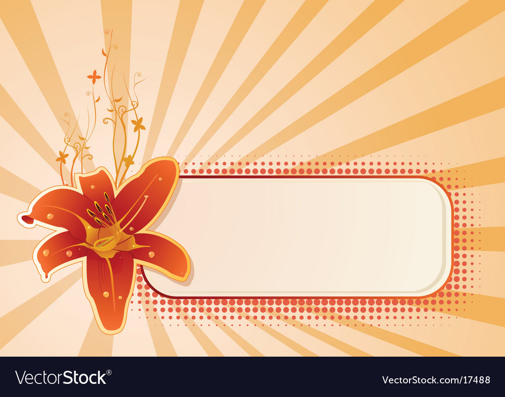 Wallpaper with flower vector | Price: 1 Credit (USD $1)