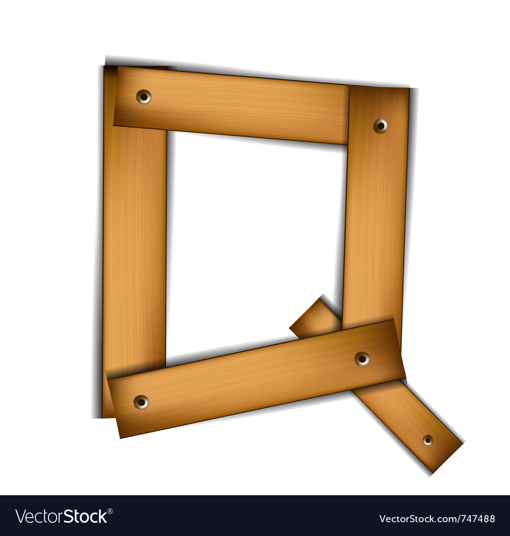 Wooden type q vector | Price: 1 Credit (USD $1)