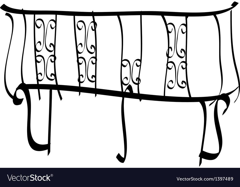 A balcony vector | Price: 1 Credit (USD $1)