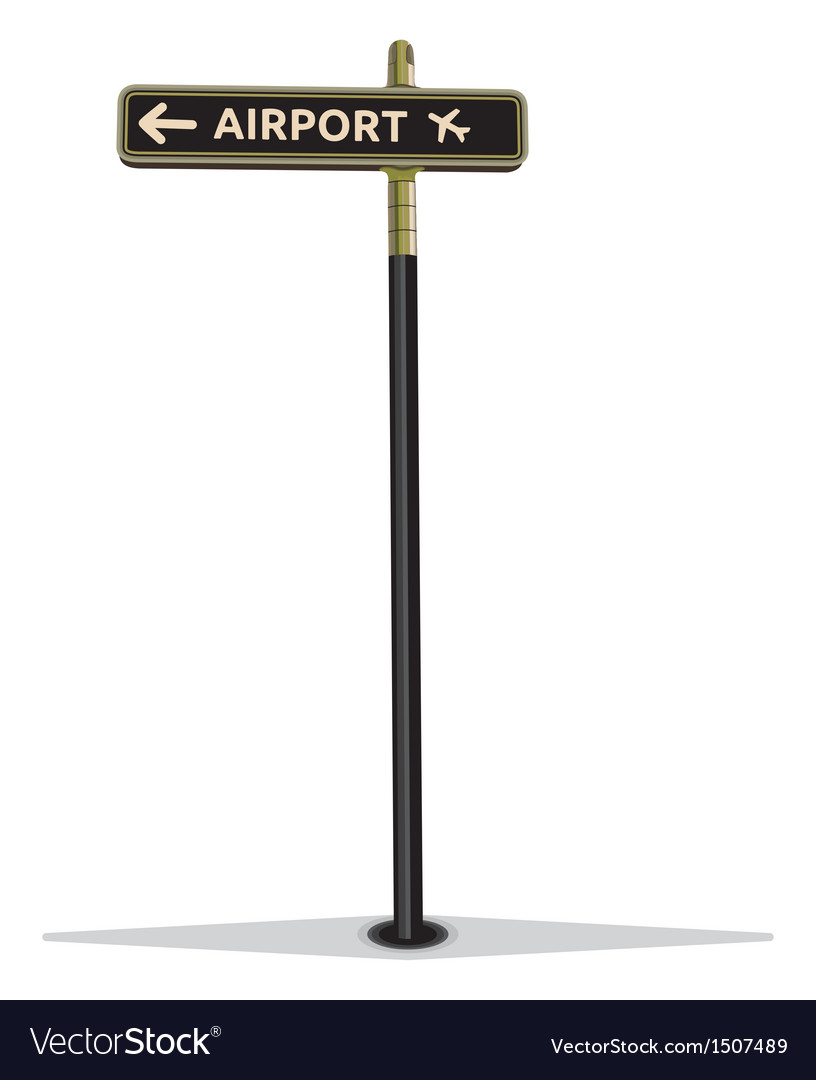 Airport street sign vector | Price: 1 Credit (USD $1)