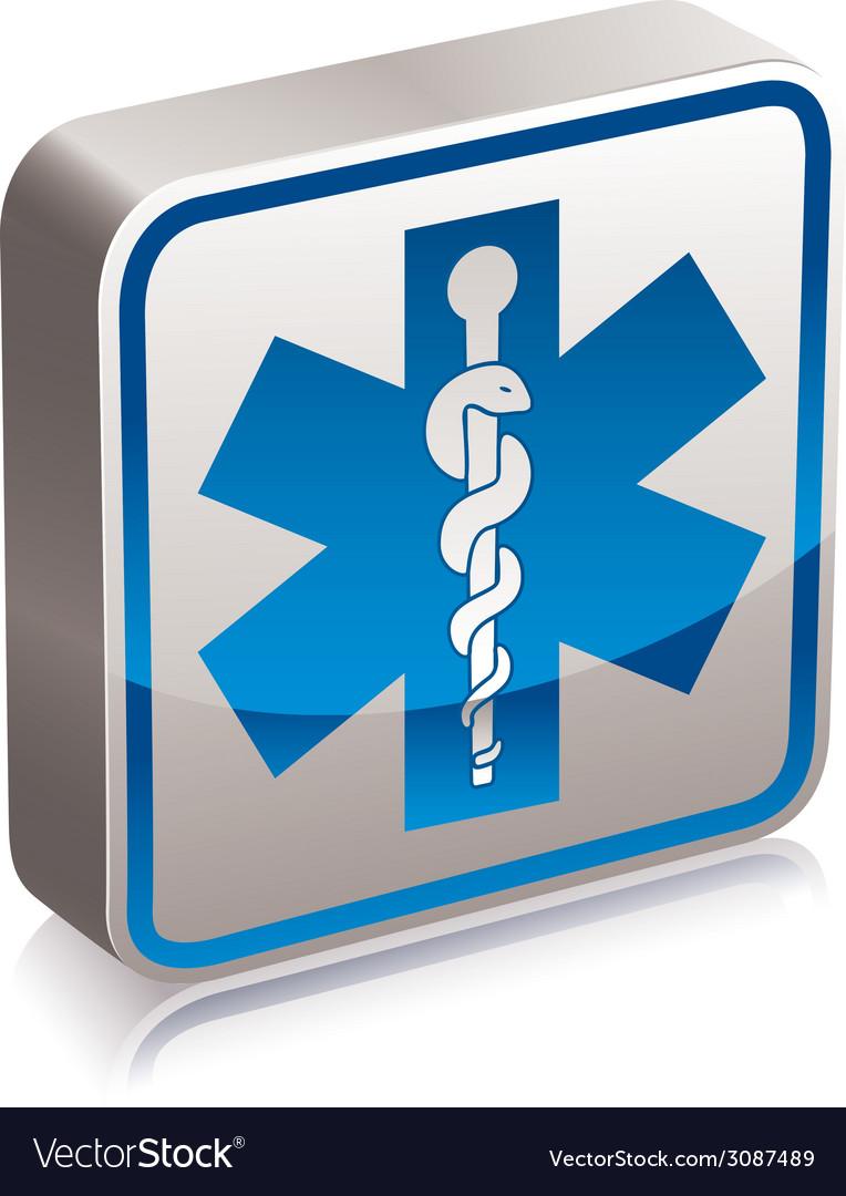 Ambulance medicine symbol vector | Price: 1 Credit (USD $1)