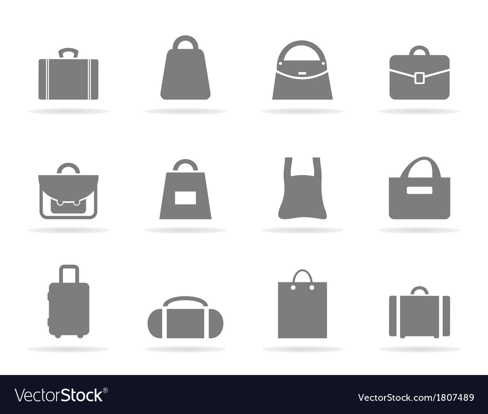 Bag an icon vector | Price: 1 Credit (USD $1)