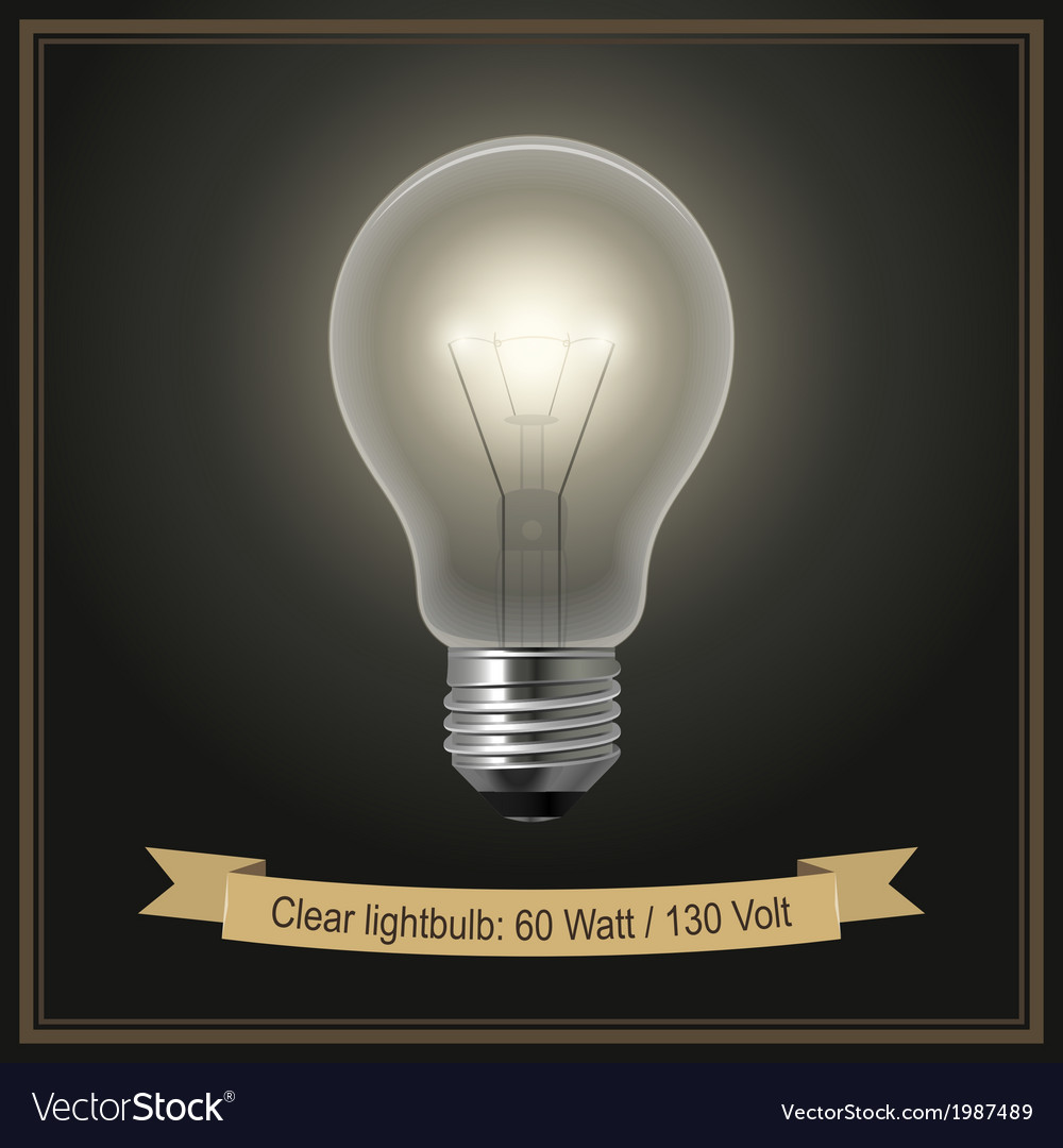 Clear lightbulb vector | Price: 1 Credit (USD $1)