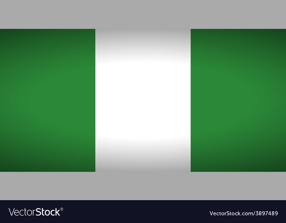 Flag of nigeria vector | Price: 1 Credit (USD $1)