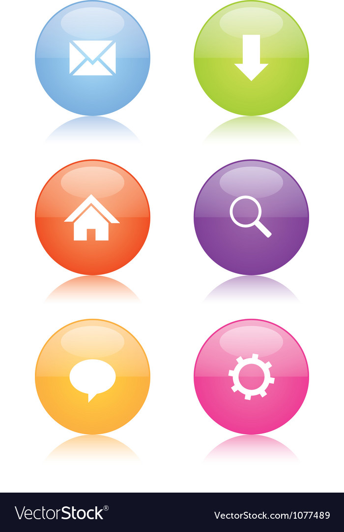 Glossy web icons vector | Price: 1 Credit (USD $1)